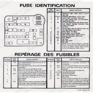 Mustang Fuse ID Decal (8789)