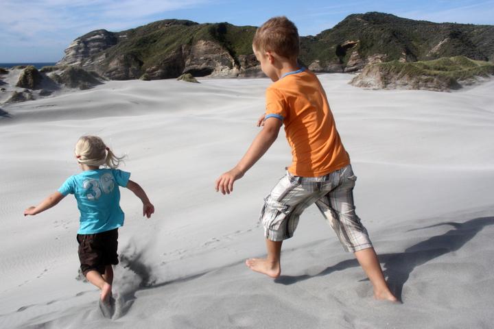 58GradNord - Elternzeit in Neuseeland - Sanddünen Wharariki Beach