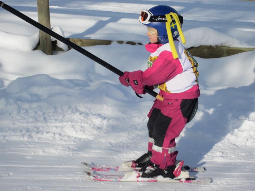 Skifahren in Schweden - Kinderlift