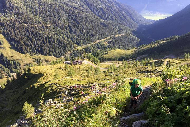 58GradNord - Karnischer Höhenweg - Aufstieg Porzerhütte