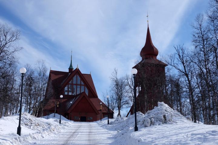 58 Grad Nord - Kungsleden im Winter - Kiruna Kyrka
