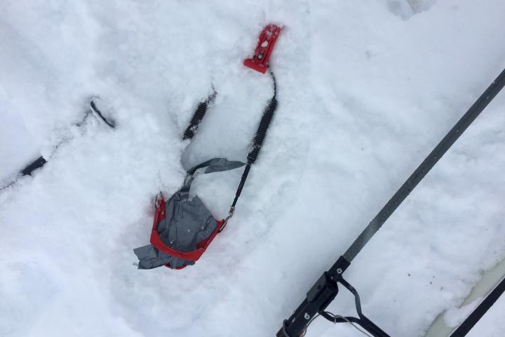 58 Grad Nord - Kungsleden im Winter - Ski kaputt