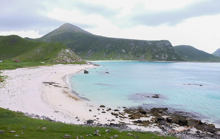 58GradNord - Mit Kindern wandern Nordnorwegen Lofoten - Hauklandstrand