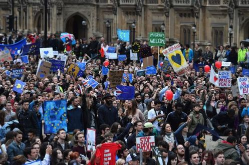 Brexit-demonstration-outside-Houses-of-Parliament