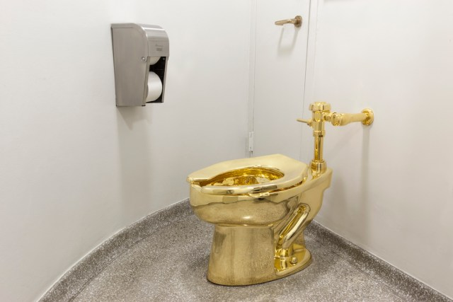 Golden Toilet at a Rental Property