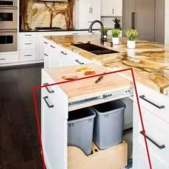 Kitchen Trash Can Pull Out Cabinets Chicago 实拍德国人的厨房 近距离了解他们的品味 厨房垃圾桶可以拉出来