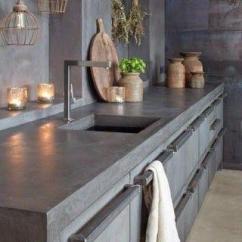 Kitchen Counter Tops Bosch Appliance Packages 我家厨房台面水泥倒刷 朋友来我家做客 纷纷赞不绝口 厨房台面