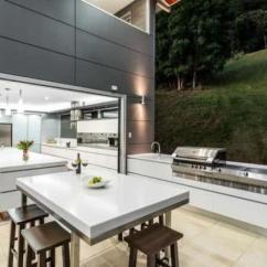 Outdoor Kitchen Sink Mats With Drain Hole 欧美潮流家居 30种时尚和现代的户外厨房 让你有耳目一新的感觉 户外厨房