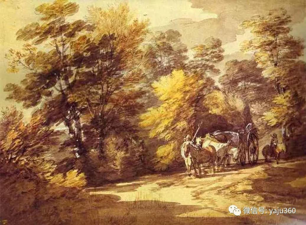 最早描绘英国乡村风景的画家 庚斯博罗-雪花新闻