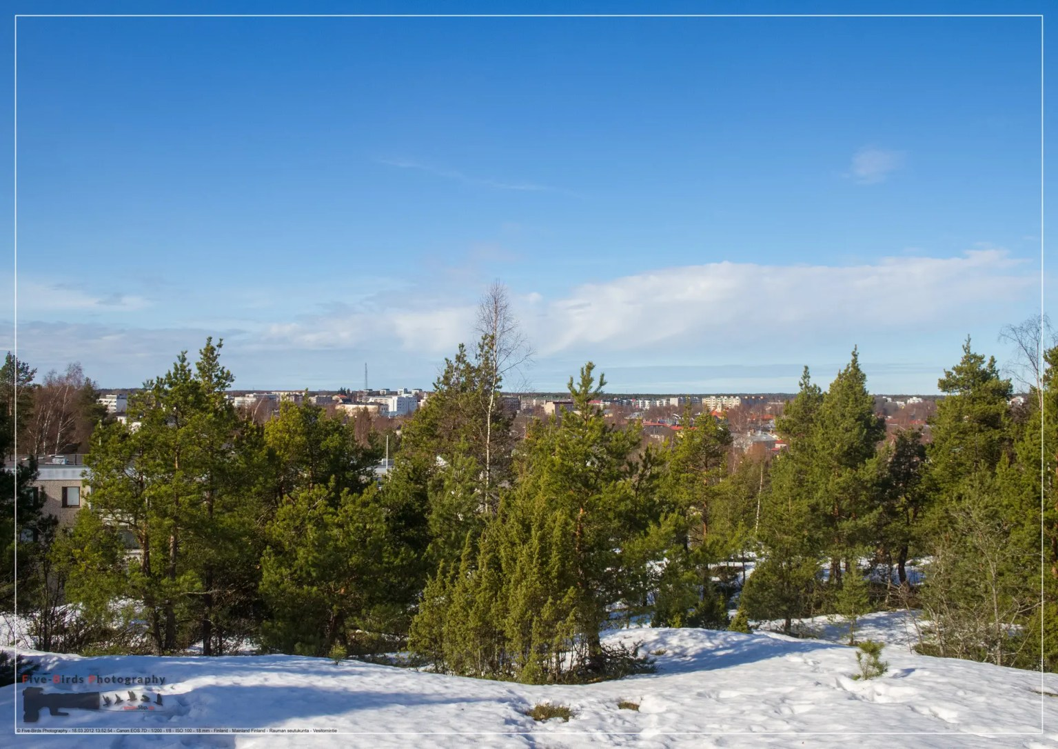 View over the Finnish city of Rauma from the lookout tower Rauma