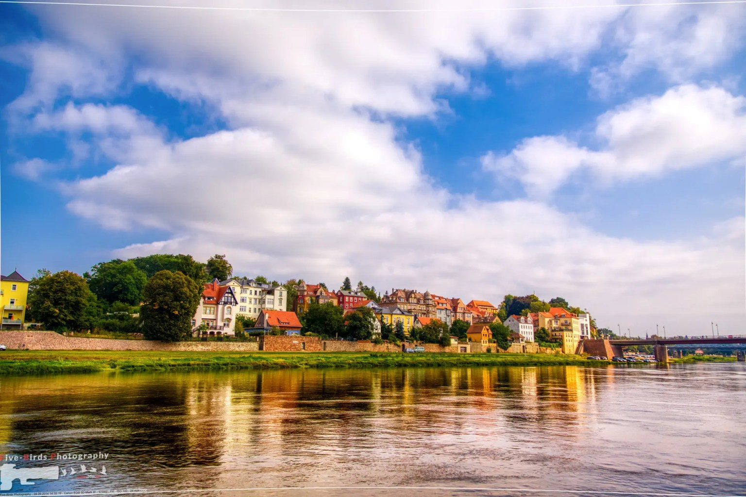 View of the German city of Meissen