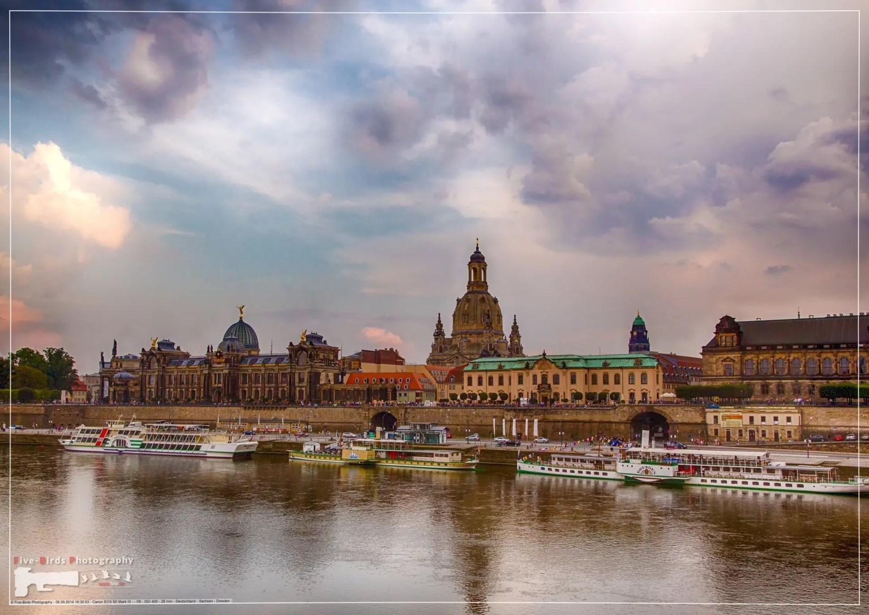 Old buildings in the German city of Dresden
