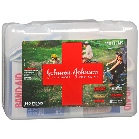 Johnson & Johnson Cross All-Purpose First Aid Kit, 140