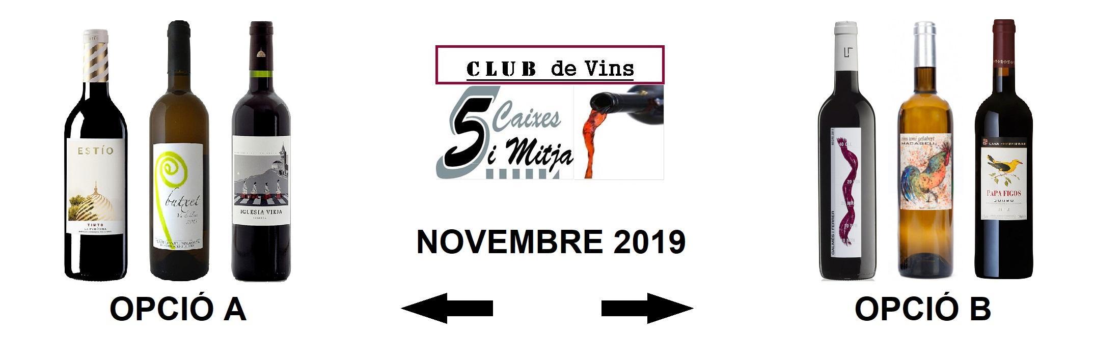 Selecció Novembre 2019 – Club de Vins