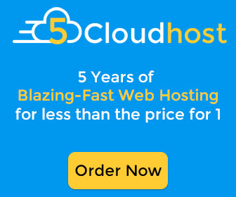 5CloudHost - Get 5 years of Blazing-Fast Webhosting for less than the price of one