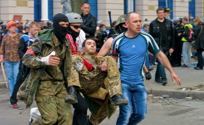 46 души загинаха в пожар при сблъсъци в Одеса