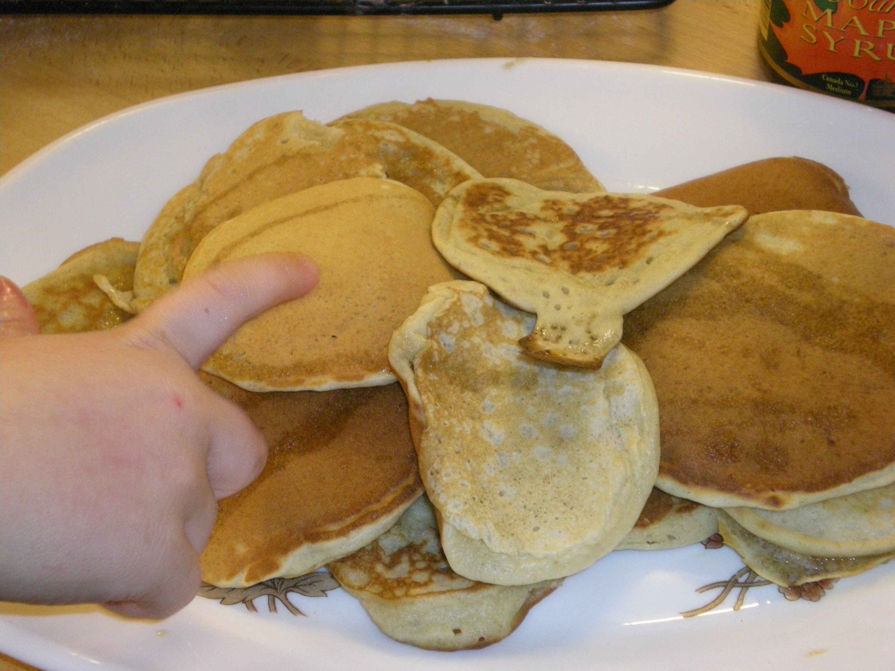 Rare shot of pancakes, normally they don't last long enough to be photgraphed