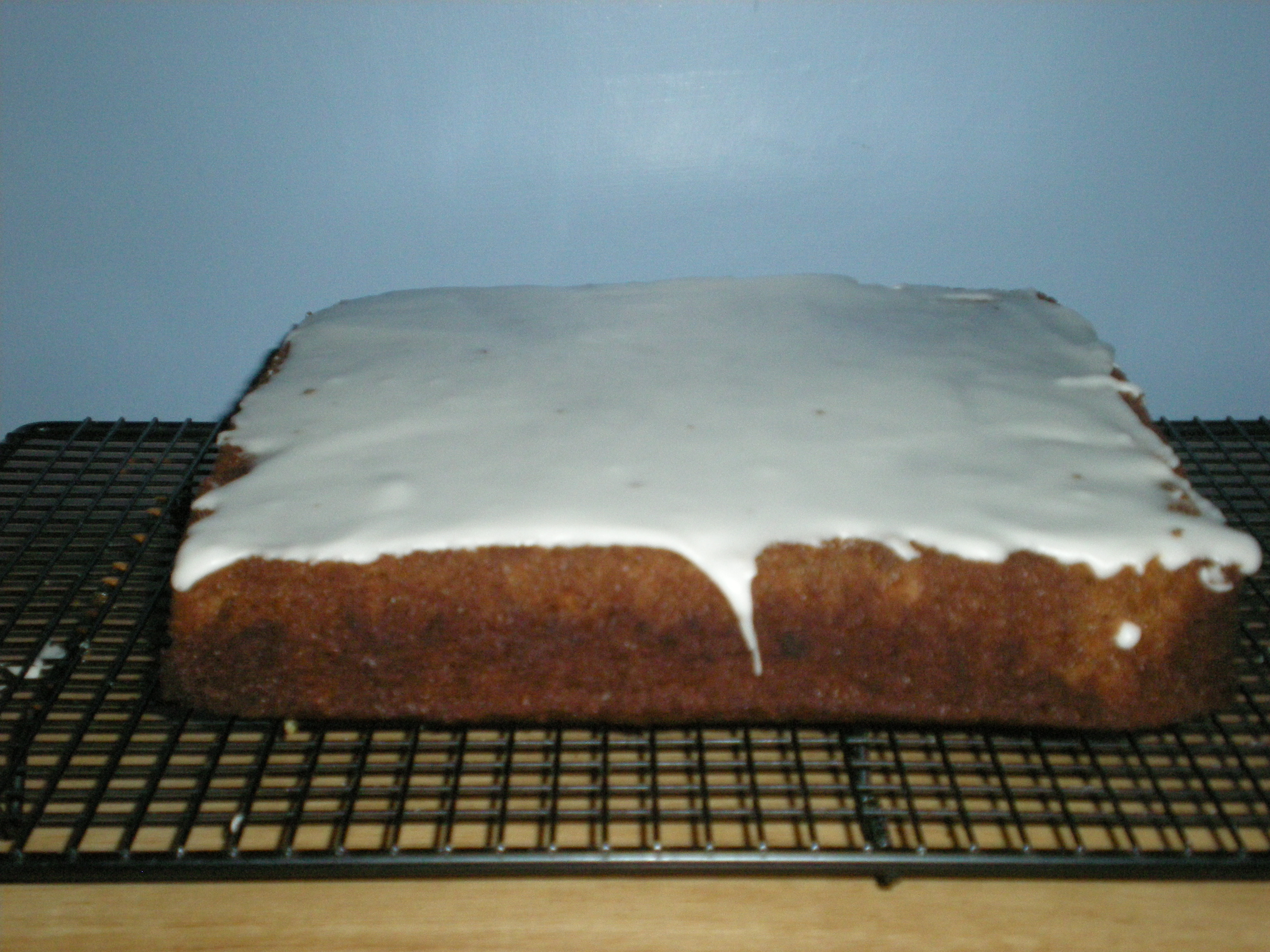 Double Ginger Cake with lemon icing...