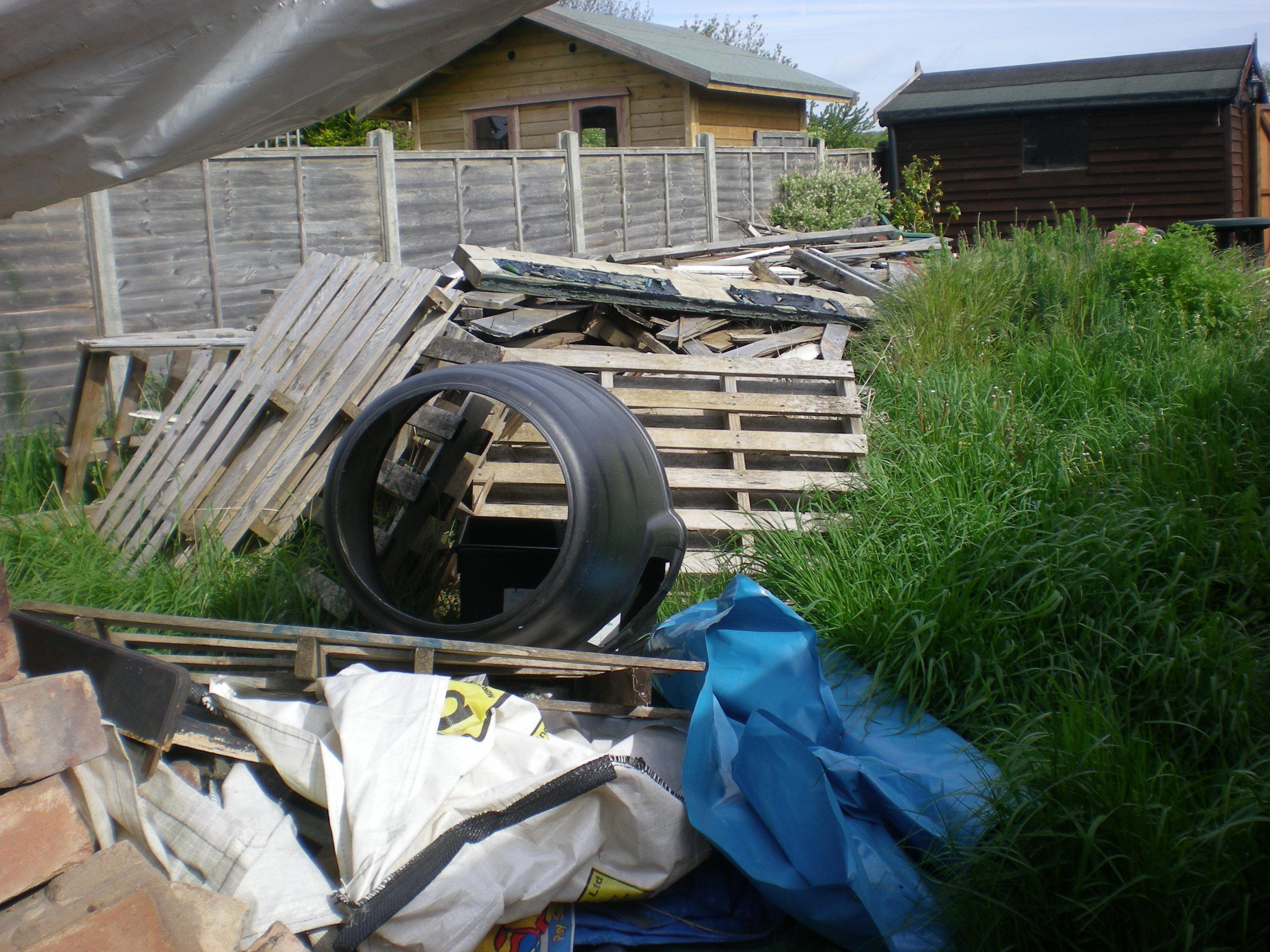 back garden pre tidy