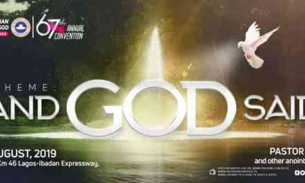 RCCG 67th Annual Convention 2019  Live Broadcast  – Day 5