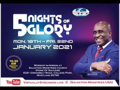 5 Nights of Glory 2021 Day 4 with Pastor David Ibiyeomie