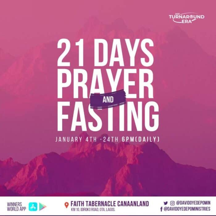 Winners Chapel 21 Days Fasting And Prayer Points for Day 6 - 9 Jan 2021, Winners Chapel 21 Days Fasting And Prayer Points for Day 6 – 9 Jan 2021, Premium News24