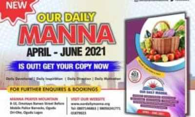 Our Daily Manna 22 June 2021 – I Shall Not Pay The Price of Another Man's Battle!