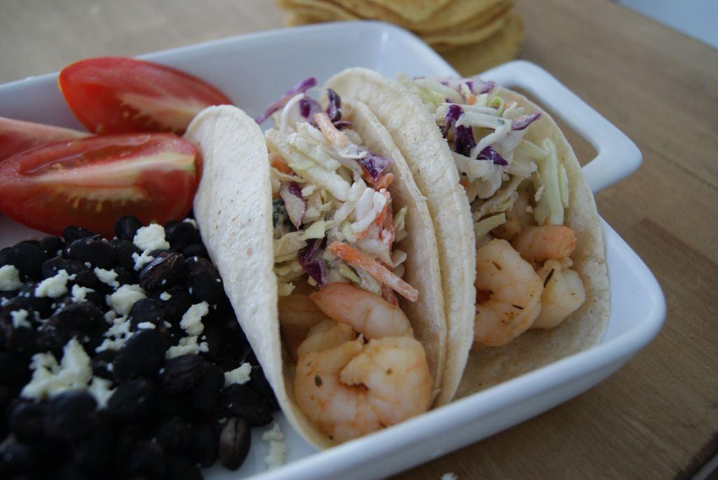 easy no cook shrimp tacos | 5dinners1hour.com