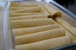 cheese enchilada rolled up