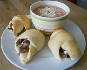 crescent roll sandwiches