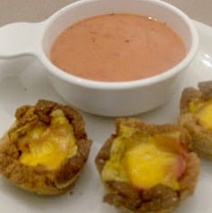 ham cheese cups