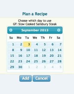 screen shot add to plan calendar
