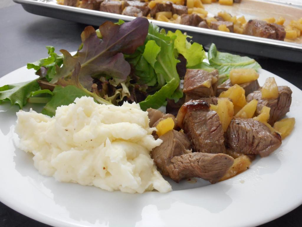 Steak & Pineapple Bites | 5dinners1hour.com