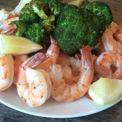 Easy Roasted Shrimp and Broccoli