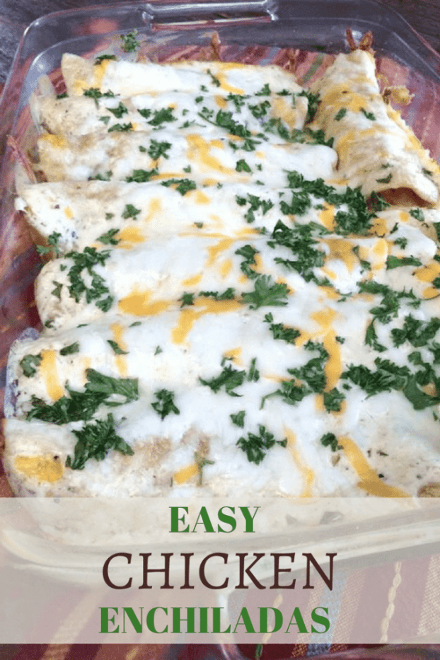 Sour Cream Chicken Enchiladas and double the sauce if you like them extra saucy | 5dinners1hour.com