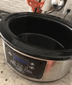 6qt crock pot on a counter