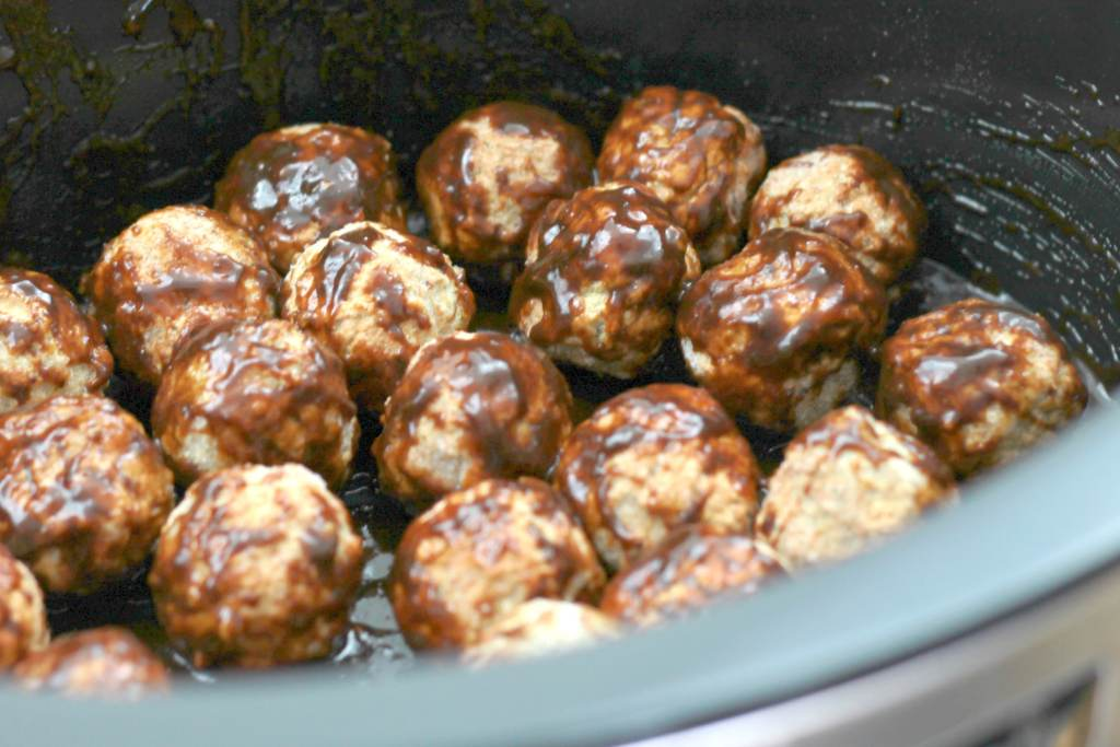 Slow Cooked Asian Meatballs! So easy and so fun for dinner.    5dinners1hour.com