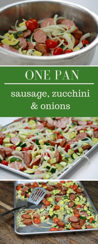 One Pan Sausage Zucchini and Onions!!! | 5dinners1hour.com
