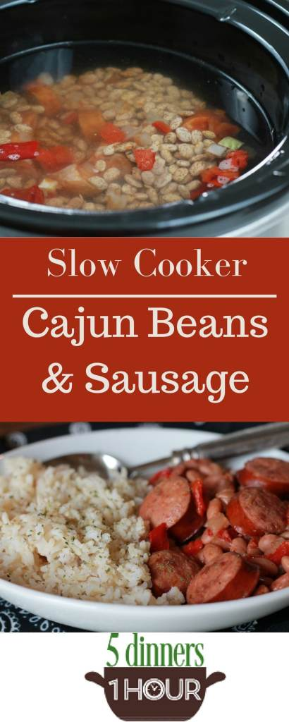 Slow Cooked Cajun Beans - 5 Dinners In 1 Hour