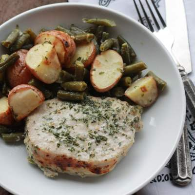 One Pan Ranch-y Pork Chops
