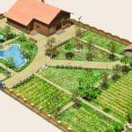 Үйлерді 10 гектар жер учаскесінде қалай ұйымдастыруға болады