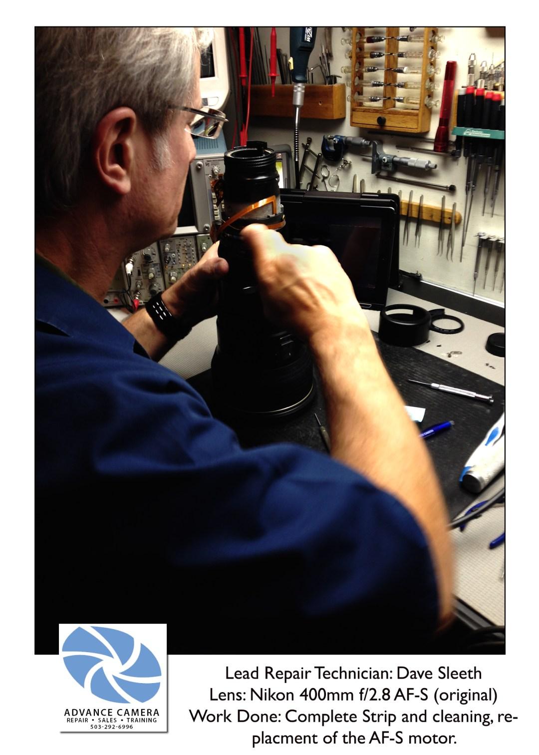 Nikon 400mm f/2.8 AF-S lens repair