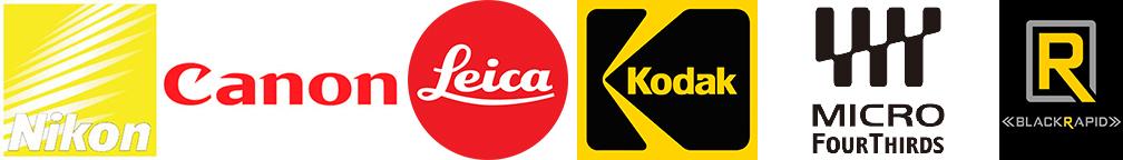nikon, canon, leica, kodak, micro four thirds, blackrapid logos