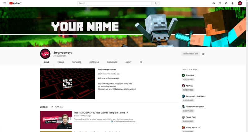 Minecrafter The Third Banner Example