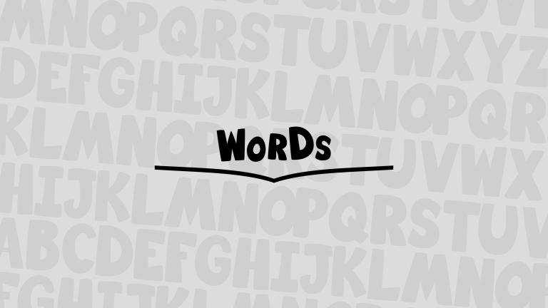 Words Banner