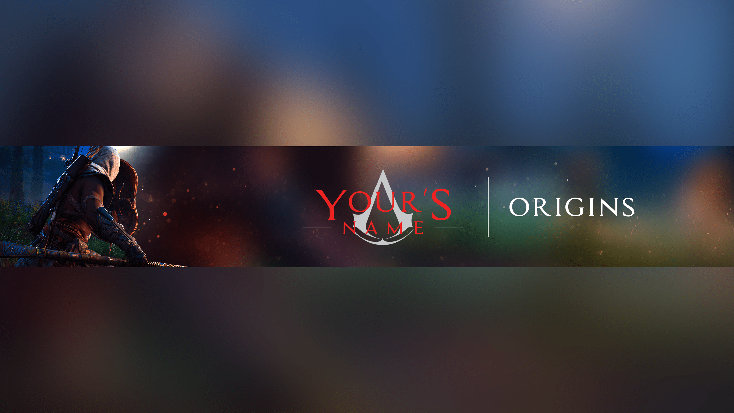 Free Assassin S Creed Origins Youtube Banner Template 5ergiveaways