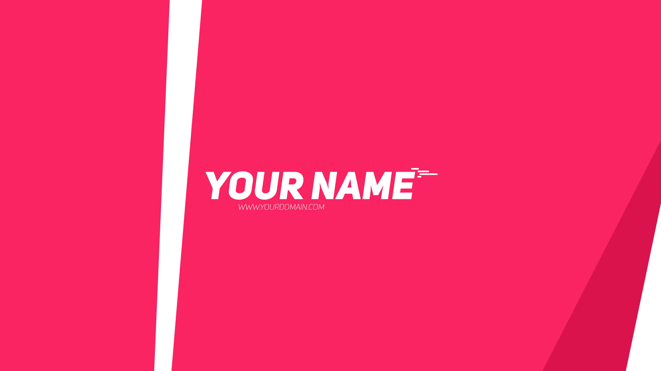 Pink YouTube Banner
