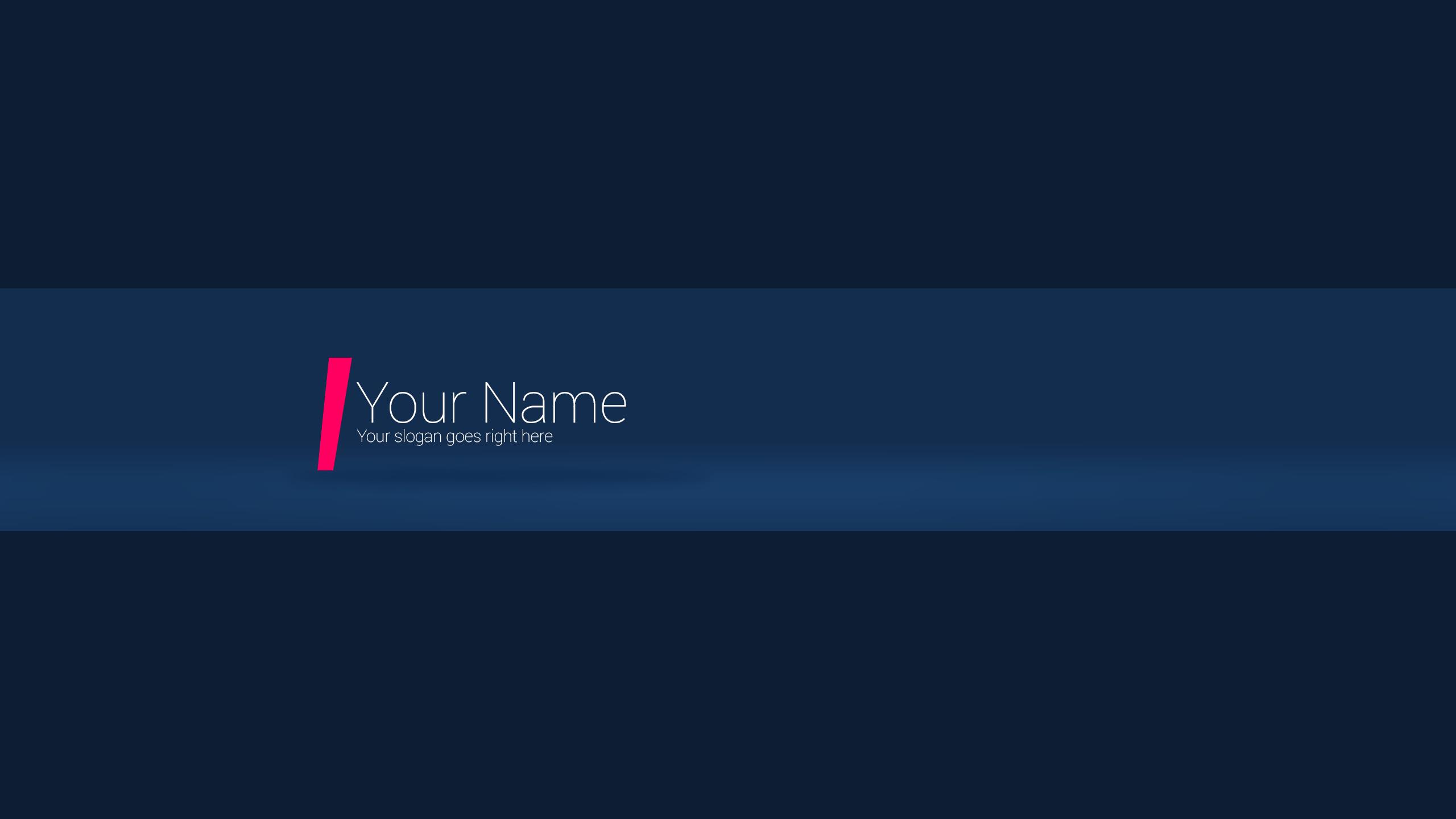 Yellow YouTube Banner
