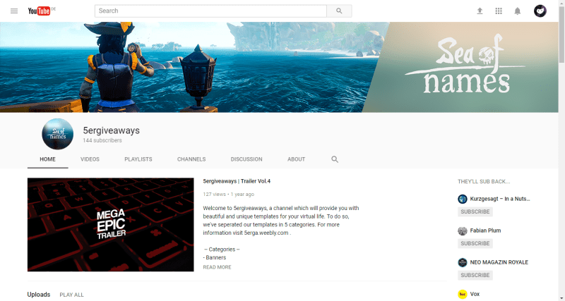Sea of Thieves Banner Example
