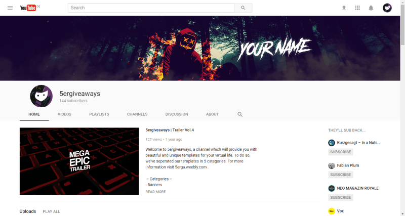 Scary Banner Example